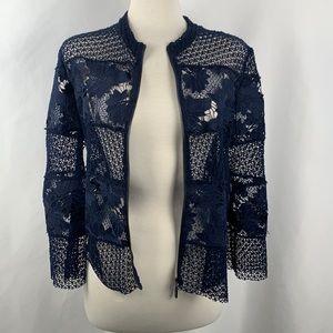 NWT Alberto Makali Blue lace zip up